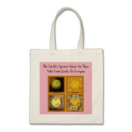 Uplifting Happy Faces Tote Bag - quote pun meme quotes diy custom