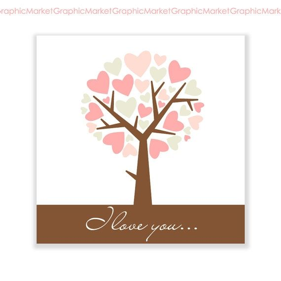 Tree of Hearts Card - Luvly Marketplace   Premium Design Resources #cards #digitalcards