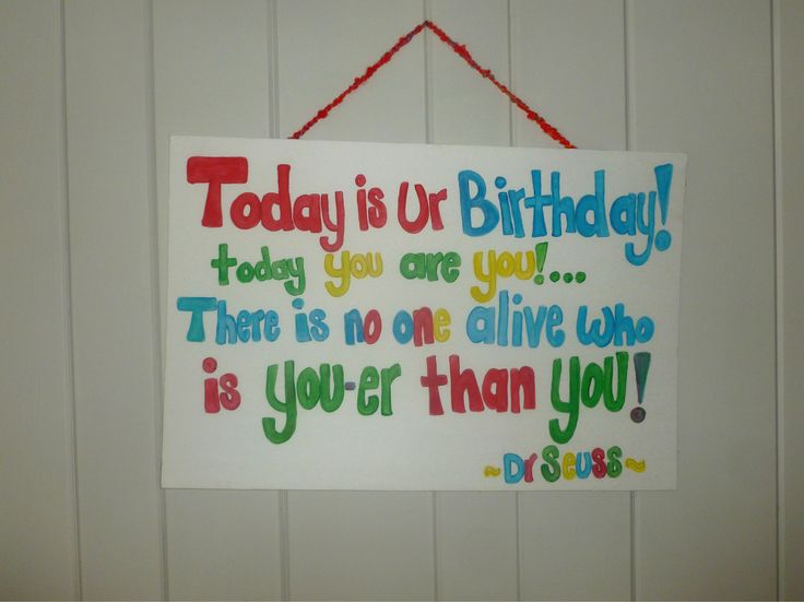 Dr Seuss Birthday Poem My Creations Pinterest