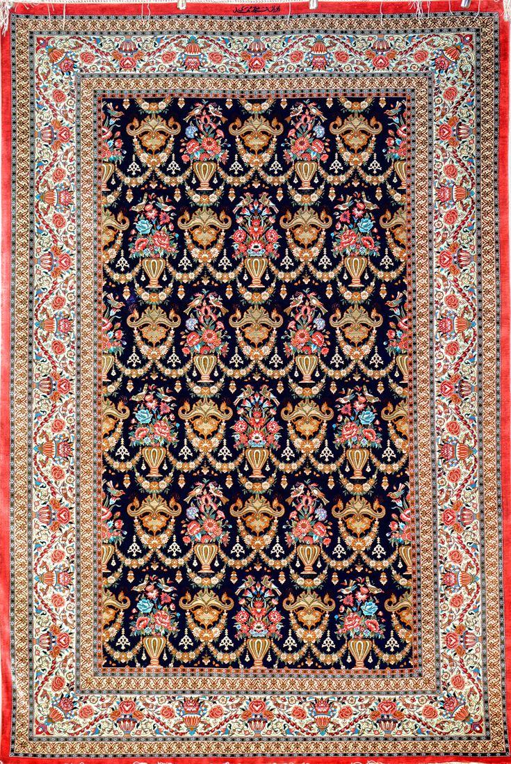 Grand Master Mirmehdi Qum Silk Silk Persian Rug Item Sm