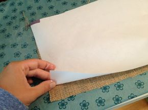 how to print on burlap with an inkjet printer this is a game changer, crafts, home decor, Cut freezer paper and burlap to the size of standard printer paper