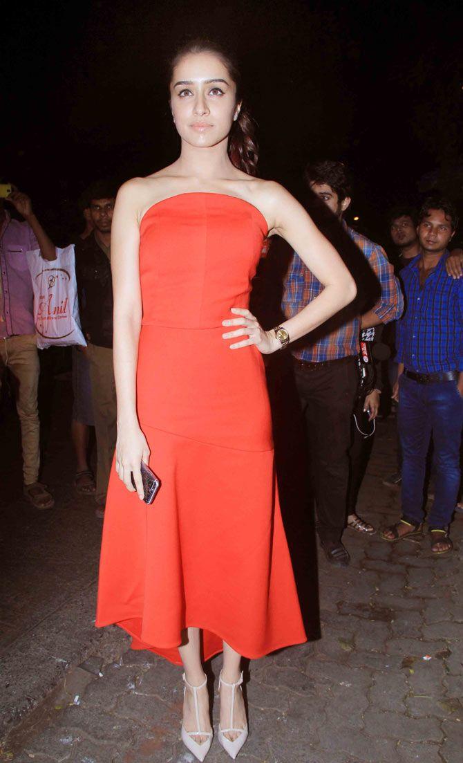 Shraddha Kapoor at Sanjay Leela Bhansali's bash. #Bollywood #Fashion #Style #Beauty