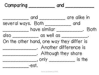COMPARE AND CONTRAST TEXT FRAME & GRAPHIC ORGANIZER - TeachersPayTeachers.com