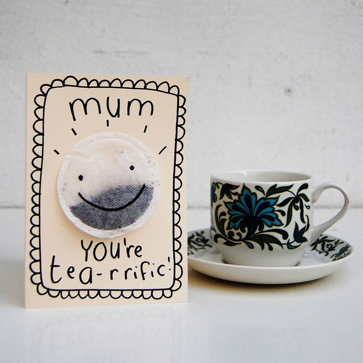 mother's day card by teeandtoast. mum's love tea!
