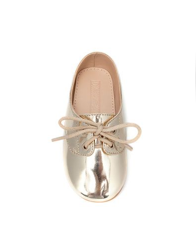 Baby Girl Zara Shoes - In gold of course!