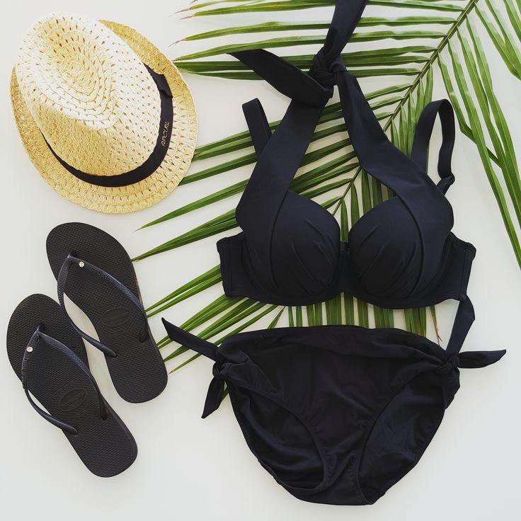 The perfect summer essentials... hat, thongs and of course our @loveintimo Resort Contour Bra and Boyleg Brief.