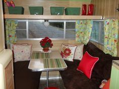 An old Shasta camper transformed into a cozy little weekend retreat!