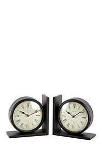 CLOCK BOOKENDS
