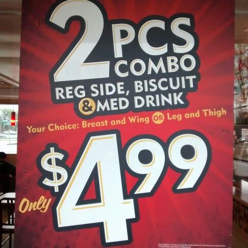 Happy Wednesday! Text Popeyes to 25543 Enjoy this special Today!