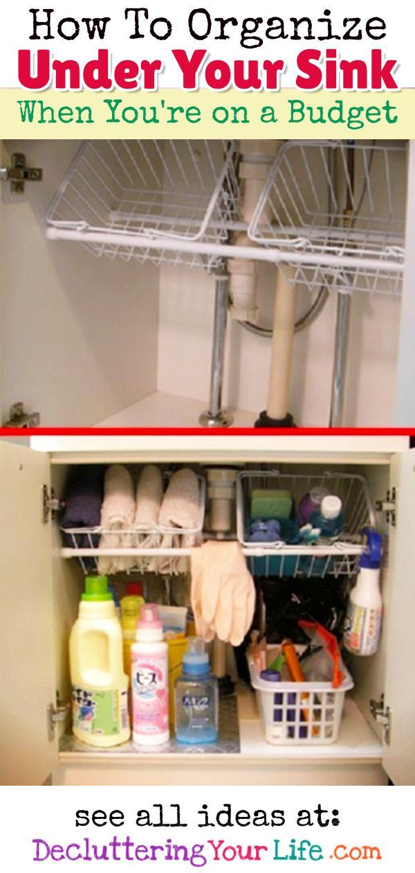Cheap  Easy Ways to Organize Under Your Sink on a Budget