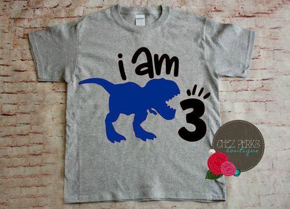 Personalized Boys Dino t shirt Dinosaur Birthday T Rex decoration 2nd 3rd 4th
