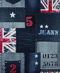 Afbeeldingsresultaat voor behang jeans