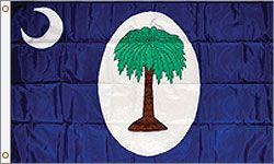 This was the official South Carolina flag for only two days, January 26-28, 1861