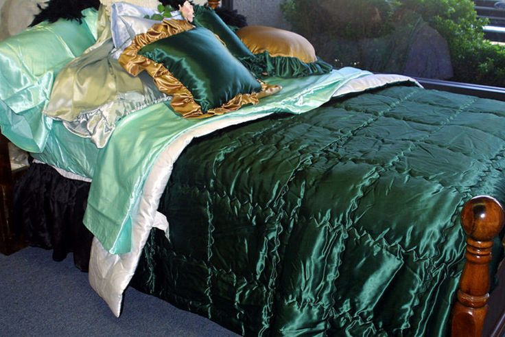 Custom Made Acetate Bridal Satin Comforters Super Slick