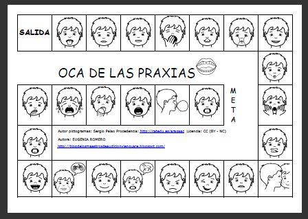 EL BLOG DE L@S MAESTR@S DE AUDICION Y LENGUAJE: JUEGO DE LA OCA CON PRAXIAS
