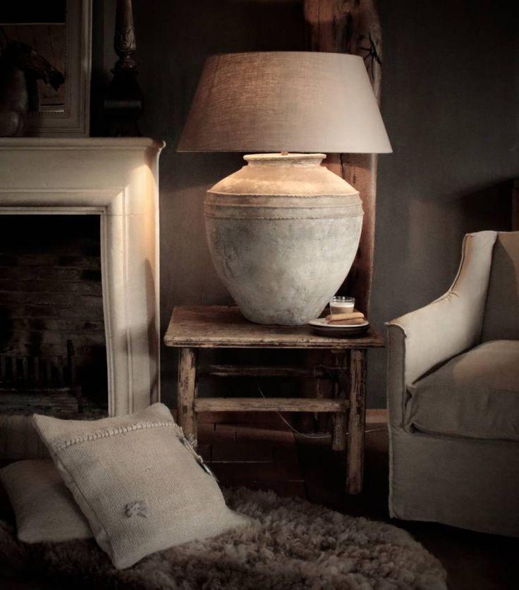 Kruiklamp Lamp Gemaakt van een oude kruik