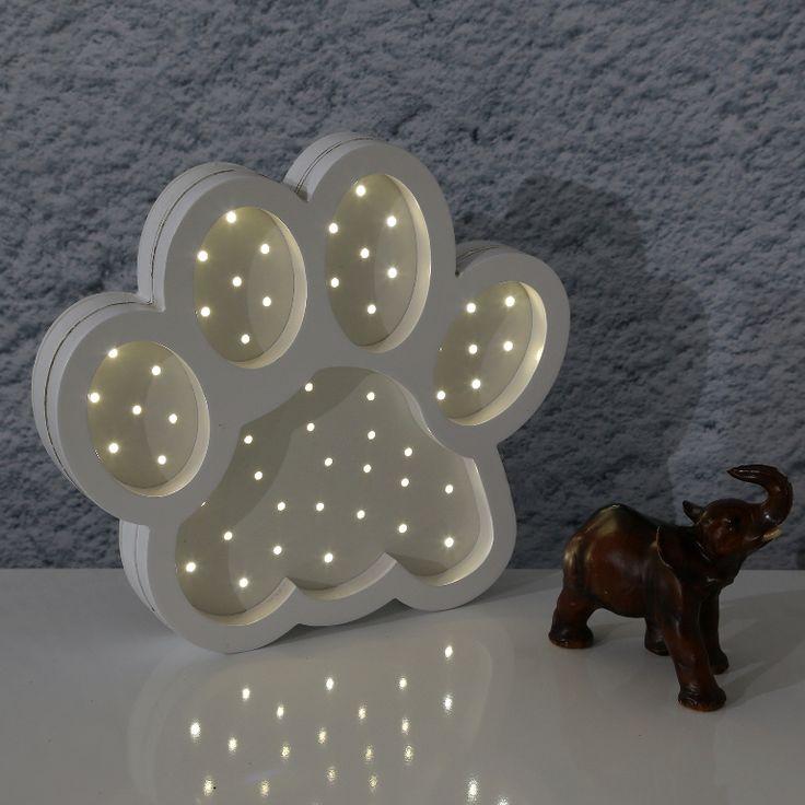 Ahşap Çocuk Odası Lambası - Pati #ahşap #lamba #dekorasyon #çocukodası #aydınlatma #dekoratif