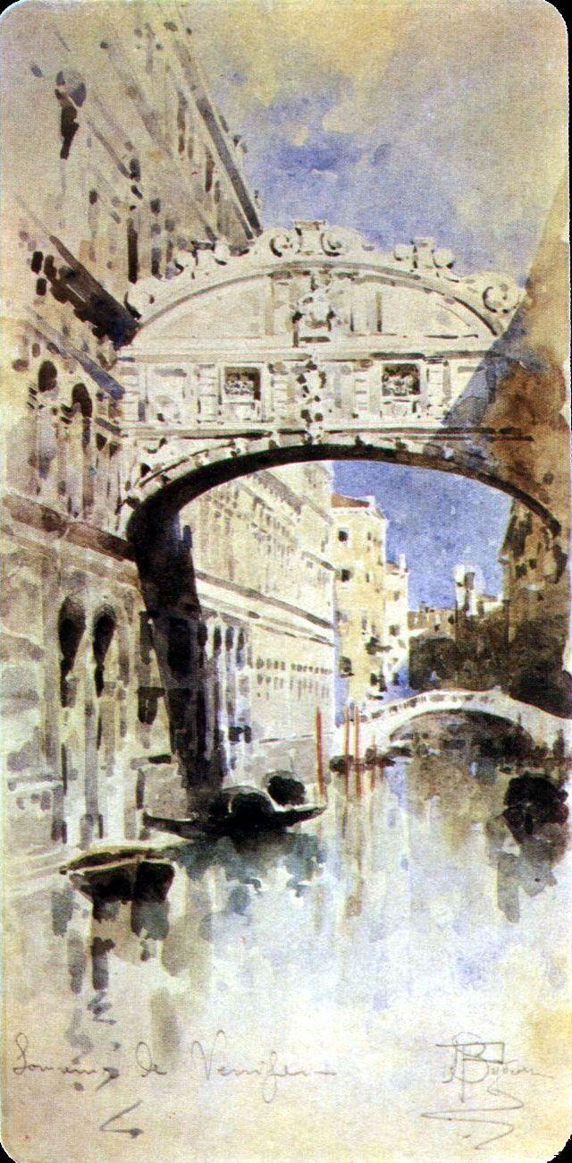 Михаил Александрович Врубель. Мост вздохов. Венеция