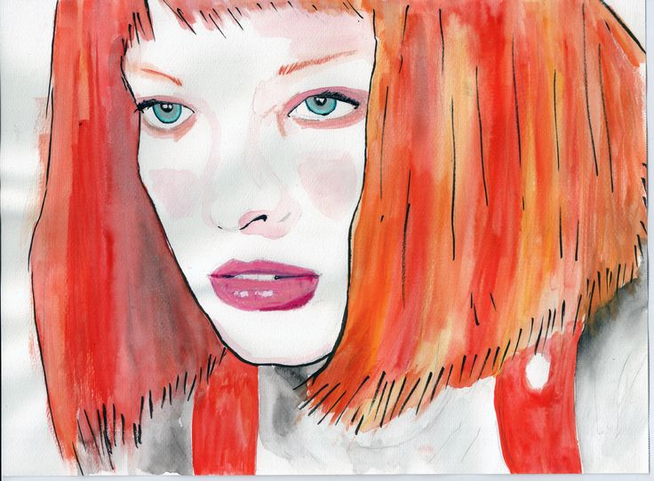 Leeloo-The Fifth Element- Milla Jovovich .. . . . . #Leeloo #TheFifthElemen #MillaJovovich #Milla #Jovovich #happy#portrait #art #illustration #drawing #draw #color #artist #sketch #paper #pen #pencil #artsy #instaart #beautiful #instagood #watercolor #colour #artsy #film #handmade #ShareMyArt
