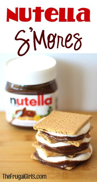 Nutella S'Mores!  {+ more SMores Recipes!} ~ from TheFrugalGirls.com ~ it's time to give your ordinary S'mores an incredible makeover! #smore #recipe #thefrugalgirls