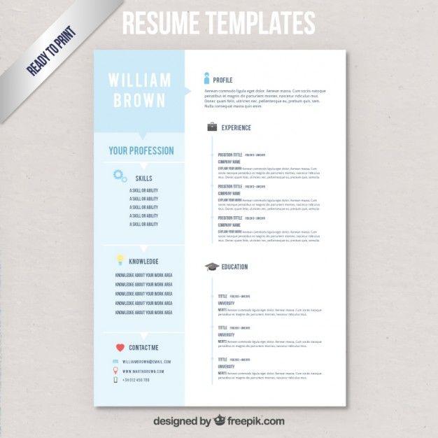 20 best CV images on Pinterest Resume templates, Resume and - modelos de resume