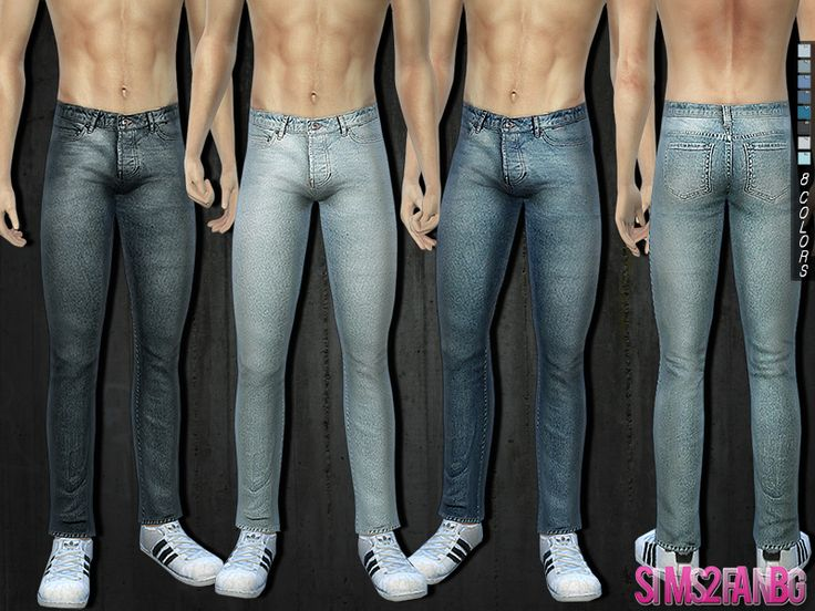 .:286 - Skinny jeans:. Found in TSR Category 'Sims 4 Male Everyday'