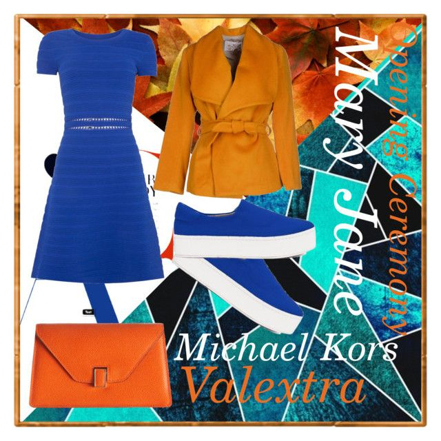 first autumn meeting by slytheriner on Polyvore featuring Michael Kors, MARY JANE, Opening Ceremony and Valextra