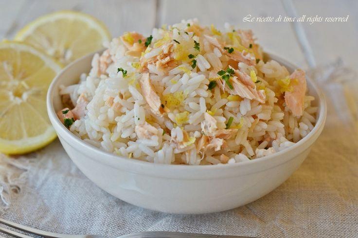 riso al salmone,riso freddo,insalata di riso veloce,le ricette di tina,primi freddi