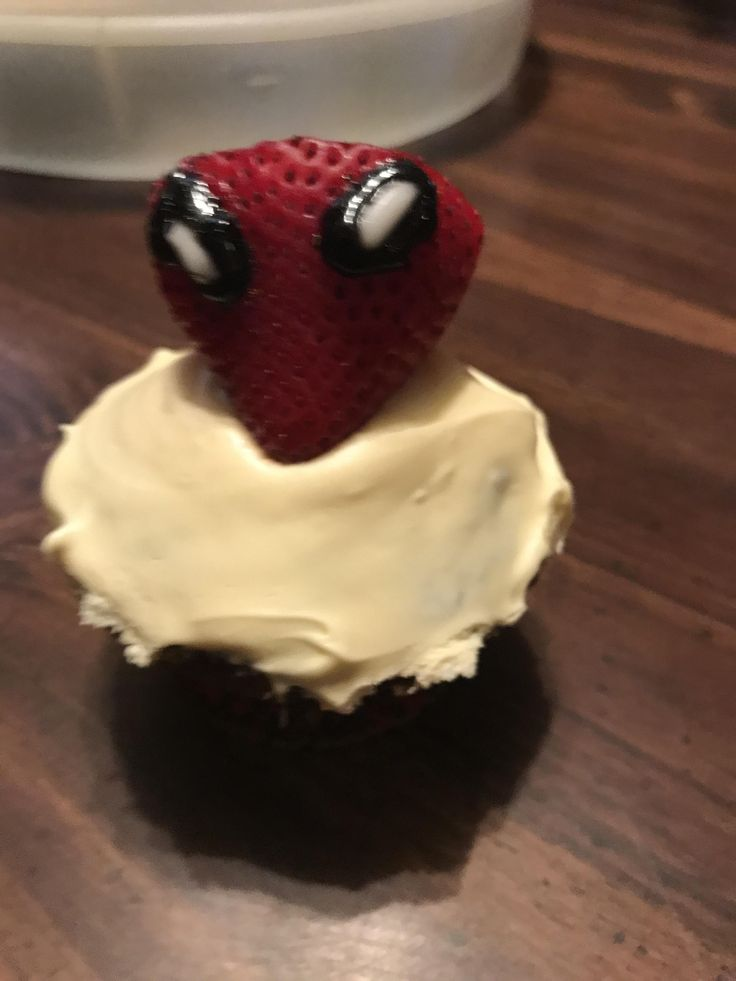 Strawberry Spider-Man with a marble cake and buttercream frosting for my bf's 24th Birthday #baking #cooking #food #recipes #cake #desserts #win #cookies #recipe #cakes #cupcakes