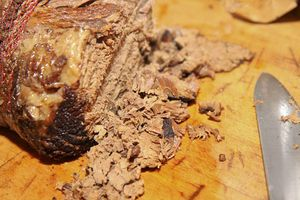 Slow cooked silverside of beef