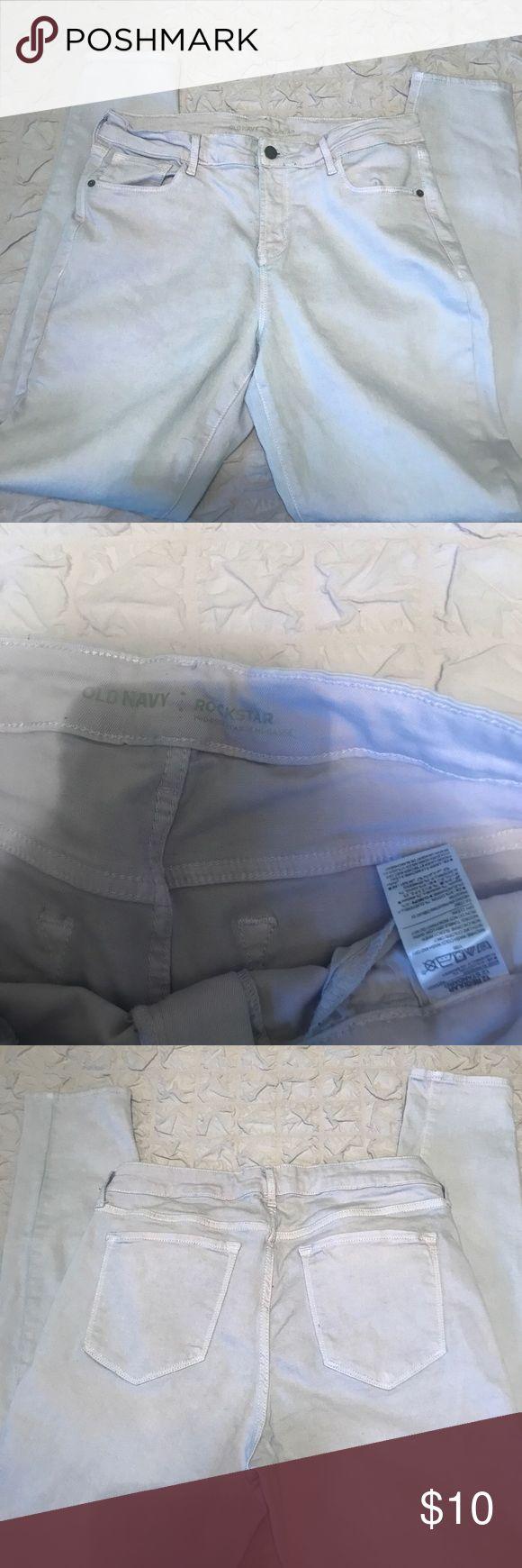 Old Navy Light Purple Skinny Jeans Light purple Old Navy rockstar mid-rise skinny jeans in good worn condition. Old Navy Jeans Skinny