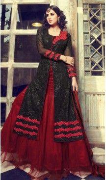 Black Color Georgette Pakistani Designer Salwar Kameez | FH472873316
