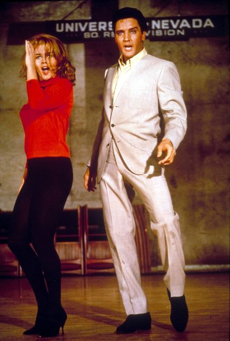 Elvis Presley &Ann-Margret inViva Las Vegas (1964) (via drmacro)  Hes an animal. Definitely an animal. A very interesting animal.  -Ann-Margret on Mr. Presley