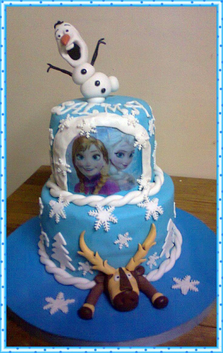 Torta De Frozen Vainilla Y Manjar Mis Creaciones Y Algo