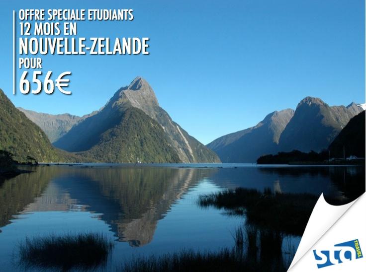 Vous aimez voyager à votre rythme et sans contraintes ? Alors le Pass Kiwi est fait pour vous ! Pendant un an, parcourez la Nouvelle- Zélande et créez le voyage de vos rêves en choisissant l'ensemble de vos destinations, le tout pour 656€ seulement ! :-) #NouvelleZélande #bonplan #statravel #voyage