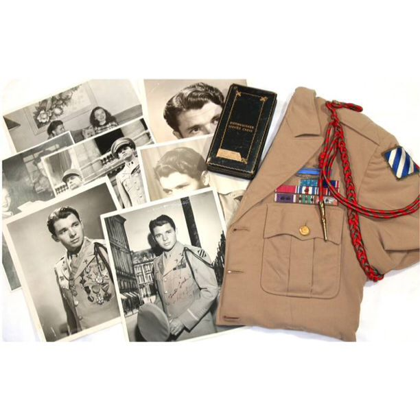 Audie Murphy grouping. Grenadier Military Antiques Auctions Fall Auction VI Starts On November 06, 2016. Please go to www.grenadierauctions.com to sign up for our mailing list and for auction registration once the auction has gone live. Thank you.   #MOH #Medalofhonor #Audiemurphy #WWII #USArmy #ETO #Infantry #Militaryantiques #Militaryantiquesauction