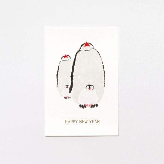 前原翔一デザイン 年賀状【ペンギン】NYC-C1