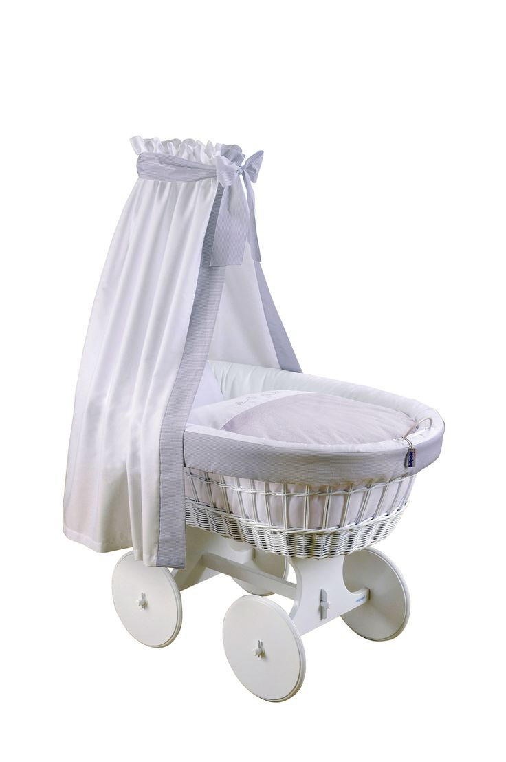 Baby cribs in ghana - Oversized Wheels Linens In Grey White A Bassinet For A Traditional Or Modern Baby Cotsgreys
