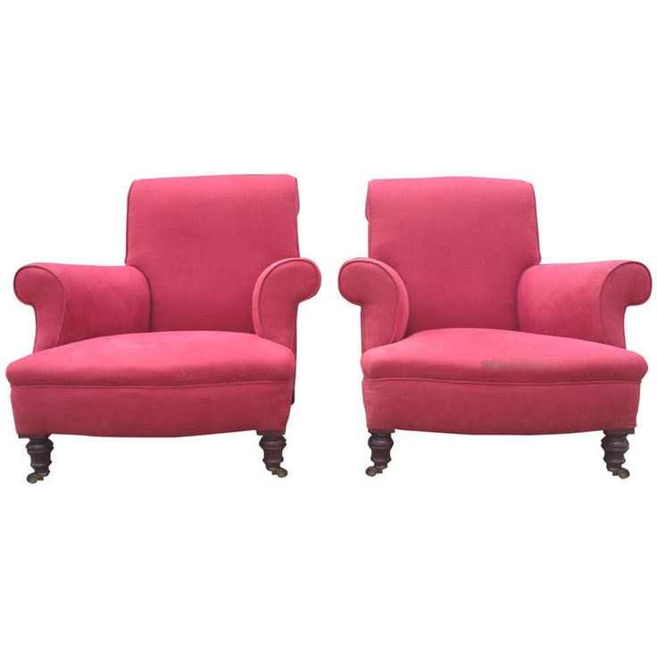 Pair of Nineteenth Century Antique Library Chairs | From a unique collection of antique and modern armchairs at http://www.1stdibs.com/seating/armchairs/