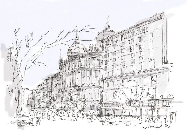 Buenos Aires (Croquis by Robinson Silva)