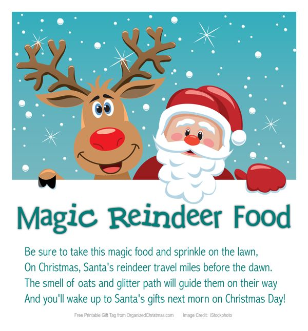 This is a graphic of Dashing Magic Reindeer Food Printable