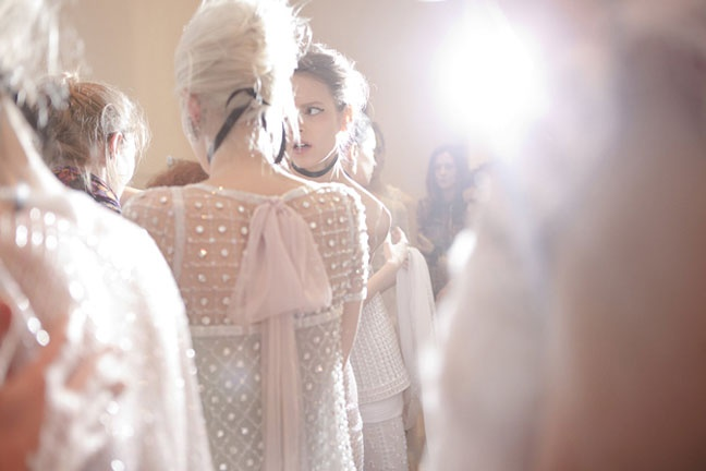 Chanel spring summer 2011 haute couture backstage.