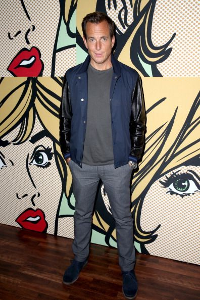 Will Arnett looking cool in this casual outfit with blue suede shoes.