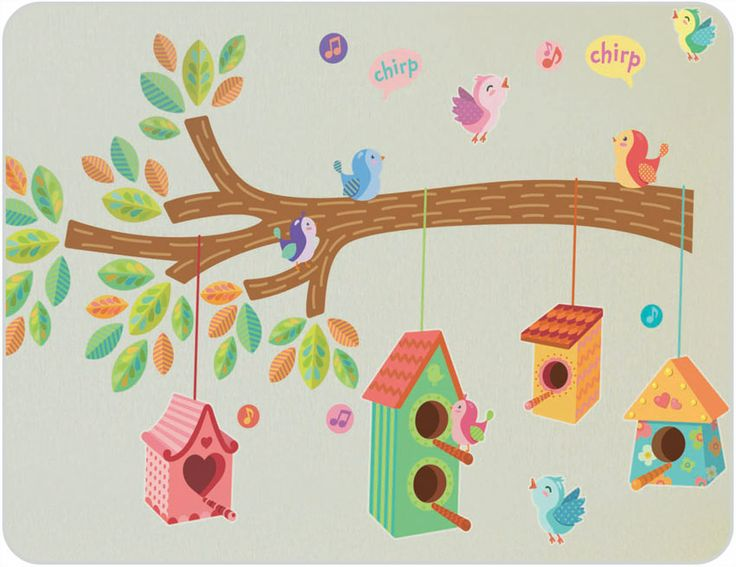 Birdhouse Wall Stickers.