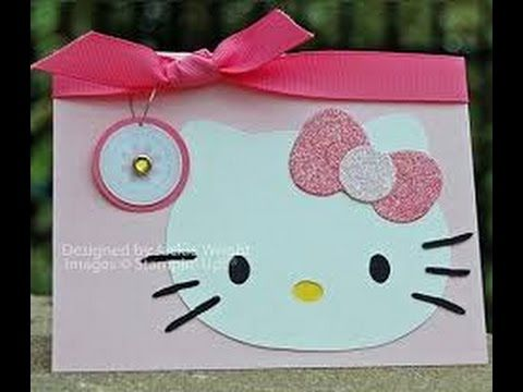 28 iDEAS para HACER INVITACIONES de HELLO KITTY