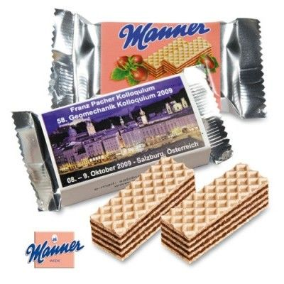 Manner mini original personalizzato. Per info: http://bestpromotion.it/index.php/dolci-personalizzati/biscotti-personalizzati/wafer-manner-mini-personalizzati.html