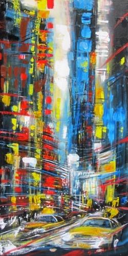 Gisele Boulianne NYC cityscape - Quebec Artist