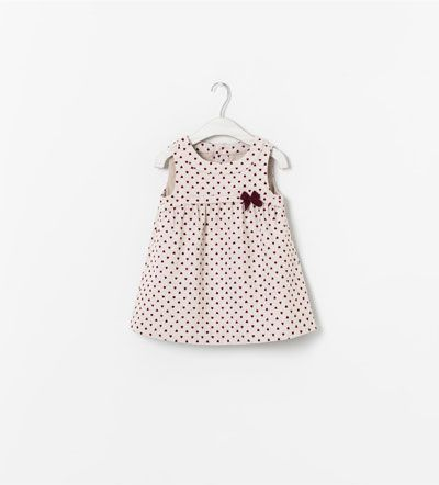 Image 1 of HEART PRINT PINAFORE DRESS from Zara- 18-24mths