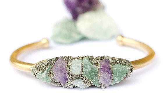 Hey, I found this really awesome Etsy listing at https://www.etsy.com/listing/197154067/raw-stone-cuff-bracelet-amethyst