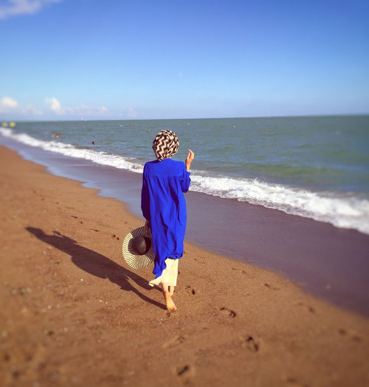 Eid away from home! We spent it in a beach hut at Lara Beach. Here was my Eid outfit!